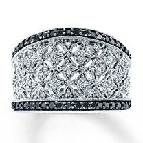 Sterling Silver ½ Carat t.w. Diamond Ring