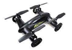 Syma X9 Flying Quadcopter Car Remote Control Car and Drone with Battery (Matte Black and Yellow Flames) -- Learn more by visiting the image link.