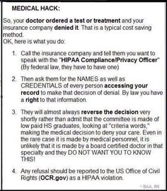 insurance denying test or treatment