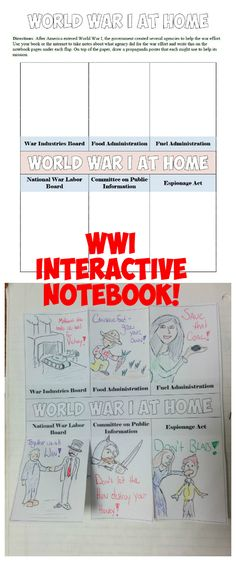 This download features 15 Interactive Notebook pages on World War I, the Roaring 20's, Prohibition, Harlem Renaissance, and more! The Interactive Notebook pages include graphic organizers, creative foldables, timelines, and more!