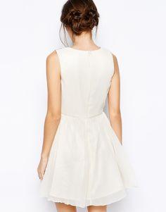asos vestido corto blanco