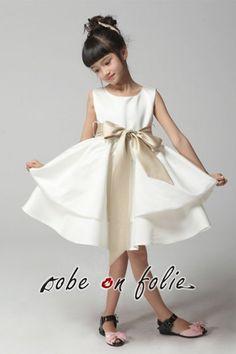 Geniales robe longue avec gants filles costume de for Robes de mariage de plage pour les enfants