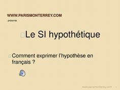 Hypothèse - Le Si hypothétique