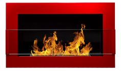 Biokominek w rozmiarze 650x400 mm dostępny w wersji z szybą lub bez na www.mafodesign-sklep.pl  #biokominek #kominek #ogień #design #dekoracje #biofireplace #fireplace #fire  #decor #czerwony #red #zszybą