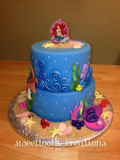 Little mermaid cake Fondant stuff I have made Pinterest