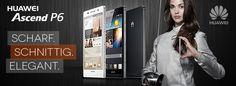 Scharf, schnittig und elegant - Das Ascend P6 von Huawei ist erhältlich in unserem Shop auf getgoods.de.