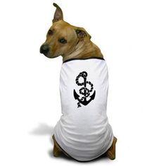 Tradition Anchor Tattoo Dog T-Shirt on CafePress.com
