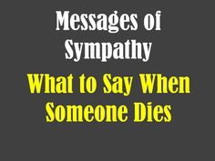 What is a good message to put on sympathy card?