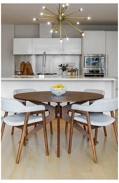 Table For Small Space, Small Spaces, Small Dining Room Tables, Small Dining Table Apartment, Round Dining Table Small, Small Dining Area, Round Tables, Dining Table In Kitchen, Small Kitchen With Table
