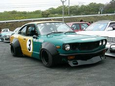 Mazda Savanna RX3 which looks much better than stock in it's bosozoku outfit.