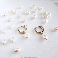 Your place to buy and sell all things handmade Baroque Pearls, Silver Pearls, Pearl Drop Earrings, Hoop Earrings, Bridesmaid Gifts, Jewelry Box, Helmet, Rose Gold, Jewels