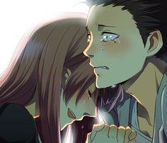 a silent voice fanart Sad Anime, Me Me Me Anime, Anime Love, Manga Anime, Kawaii Anime, Anime Art, Koe No Katachi Anime, A Silence Voice, A Silent Voice Anime