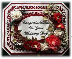 Wedding card using Sue Wilson Noble rectangle dies.