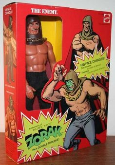 Zorak - Big Jim - Totally forgot I had this until I saw a Pin. Super villain who had a face that spun around inside his hood - one side menacing, the other super-evil-green monster!