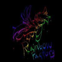 Rainbow Factory Dashie by ~sweetstrawberryblood on deviantART