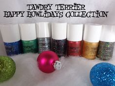 The @Tawdry Terrier Happy Howlidays collection is not available at https://www.etsy.com/shop/TawdryTerrier. #nailpolish #indienailpolish #tawdryterrier #christmas #newyears #newyearseve #hanukkah #chanukah #chanukkah