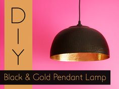 Preciously Me blog : DIY Black & Gold Pendant Lamp