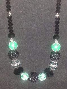 BEAUTIFUL Jewelry!!!!  Check out her page.  Black Austrian crystal with Jesse James beads by ILoveBeads247, $14.00