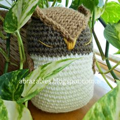 Ibarra, crochet owl by Abrazables http://abrazables.blogspot.com.ar/p/animalitos.html