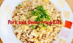 How to make pork and onion fried rice #recipe #food #friedrice #pork