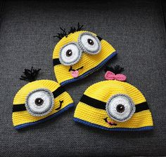 minion crochet hat pattern, easy instructions, pdf download #Pinoftheday #crochetpattern #despicableme