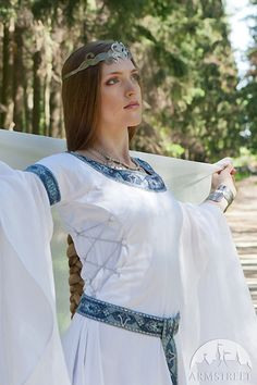 12% DISCOUNT Medieval Fantasy Wedding Dress White by armstreet