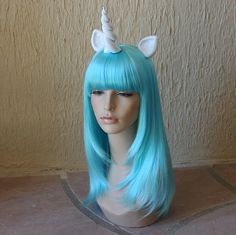 My Little Pony costume wig  Turqoise aqua blue / by GimmCat, $115.00
