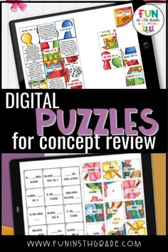 Do review days get boring? These digital puzzles are perfect activity to keep students engaged and learning during review and test prep. These puzzles are interactive and self checking and perfect for in person learning and distance learning. Find out how to use digital puzzles and the right ones for your class! Reading Centers, Math Centers, Math Websites, Student Rewards, Math Lesson Plans, Math Facts, Test Prep, Math Classroom, 5th Grades