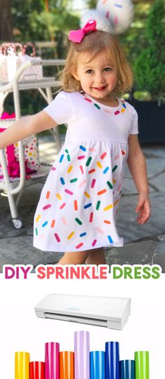 Learn how to make a DIY Sprinkle Dress with your Silhouette machine (or favorite cutting machine)! Make polka dots, numbers, letters, or more!