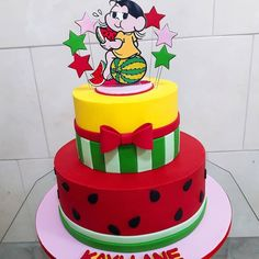 Island Theme Parties, Bolo Fack, 1st Bday Cake, Watermelon Birthday Parties, Fake Cake, Fiesta Party, Themed Cakes, Amazing Cakes, Cake Pops