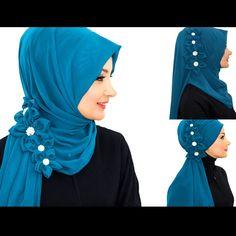 www.aishasbridal.com #hijab Islamic Fashion, Muslim Fashion, Hijab Fashion, Fashion Outfits, Womens Fashion, Tutorial Hijab Pashmina, Hijab Style Tutorial, Hijab Wedding Dresses, Hijab Bride