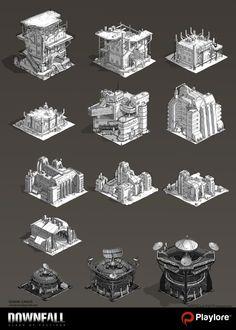 ArtStation - Structures Downfall , edmar junior