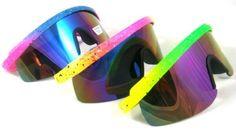 80's Vintage Neon Splattered Wrap Sunglasses: http://www.amazon.com/Vintage-Neon-Splattered-Wrap-Sunglasses/dp/B0038YN65G/?tag=greavidesto05-20