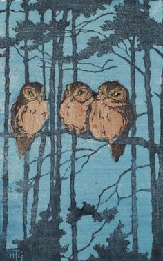 art nouveau owl - Google Search