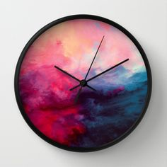 This is a simple design of a clock. I really like the colors which is mixed together. They are colors which makes the atmosphere seem mild and clam even though dark blue is sometimes considered bad.