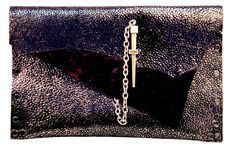 Leather Couture by Jessica Galindo. Stingray print Dagger Clutch.
