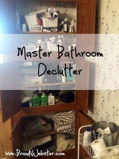 Master Bathroom Declutter