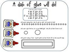 Learning to Glue Freebie - via @YourTherapySource - - Pinned by @PediaStaff – Please visit http://ht.ly/63sNt for hundreds of pediatric therapy pins