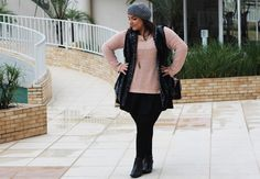 look-plus-size-de-inverno-colete-ankle-boot-gordinha
