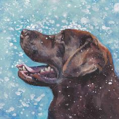 12x12 inch chocolate Labrador retriever Canvas print by L.A.SHEPARD  About the Print:  This open edition image measures 12x12 inches and is printed on an 13x19 FLAT CANVAS sheet with archival inks.  I use a specially designed CANVAS sheet for archival fine art prints.  Print is hand signed by the artist on the front border.  Would you like to see more of my work? Please click the link below to browse through my store- http://www.etsy.com/shop/TheDogLover?ref=ss_profile   About the Artist:  I…