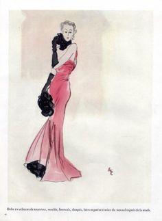 Eric 1937 Schiaparelli Evening Dress