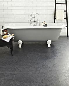 Underfloor heating is a must if you& remodeling the bathroom. Underlay For Laminate Flooring, Slate Flooring, Kitchen Flooring, Condo Kitchen, Kitchen Redo, Kitchen Tiles, Diy Bathroom Remodel, Bathroom Renos, Bath Remodel