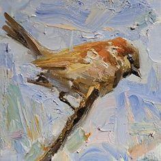 Finch by Derek Penix Oil ~ 6 x 6