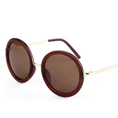 Tawney Casual Round Unisex UV Protection Sunglasses