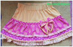 gratis patroon strokenrok (maten 86 t/m 140) free pattern girls skirt