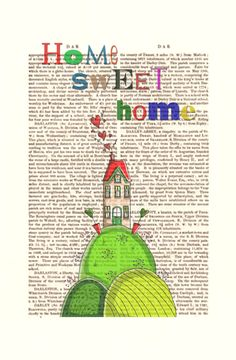 Home Sweet Home Print by FabFunky