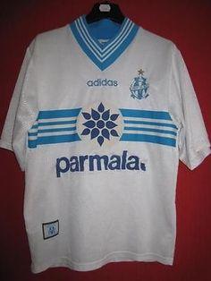 Maillot Olympique de Marseille ADIDAS vintage OM Parmalat ancien - S