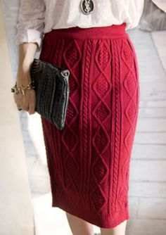 Cheap pencil skirt office, Buy Quality skirt office directly from China long pencil skirt Suppliers: Women winter skirts 2017 knitted Elegant vintage high waist warm long pencil skirt Office Female Vintage Kintting Knit Skirt, Knit Dress, Long Pencil Skirt, Vogue Knitting, Winter Skirt, Hand Knitted Sweaters, Dress Sewing Patterns, Wool Skirts, Skirt Fashion