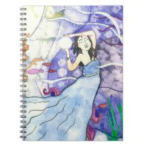 Shop Amphitrite Ocean Goddess Notebook created by fairychamber. Personalize it with photos & text or purchase as is! Winter Fairy, Winter Magic, Star Goddess, Celtic Mythology, Curious Cat, Diy Notebook, Freedom Design, Witch House, Cat Sleeping