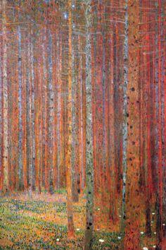 オールポスターズの グスタフ・クリムト「ぶな林 I 1902年 (Tannenwald)」高品質プリント